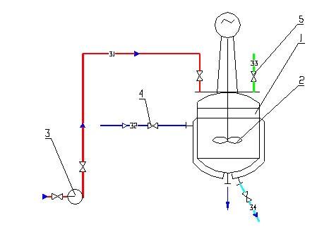 В качастве лабораторной установки показан фрагмент технологической схемы производства сульфаминовой кислоты...